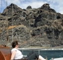 <h5>Rückfahrt: Entspannen unter den Steilklippen von Los Gigantes.</h5>